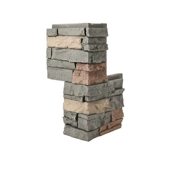 Stacked Stone Stratford 24 in. x 12 in. Faux Stone Siding Outside Corner Panel