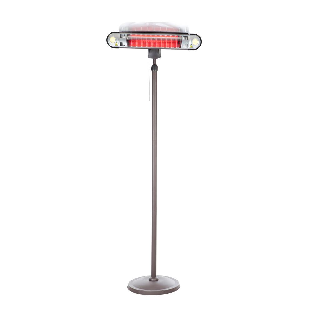 Amazing Fire Sense 1,500 Watt Alta Floor Standing Halogen Electric Patio Heater