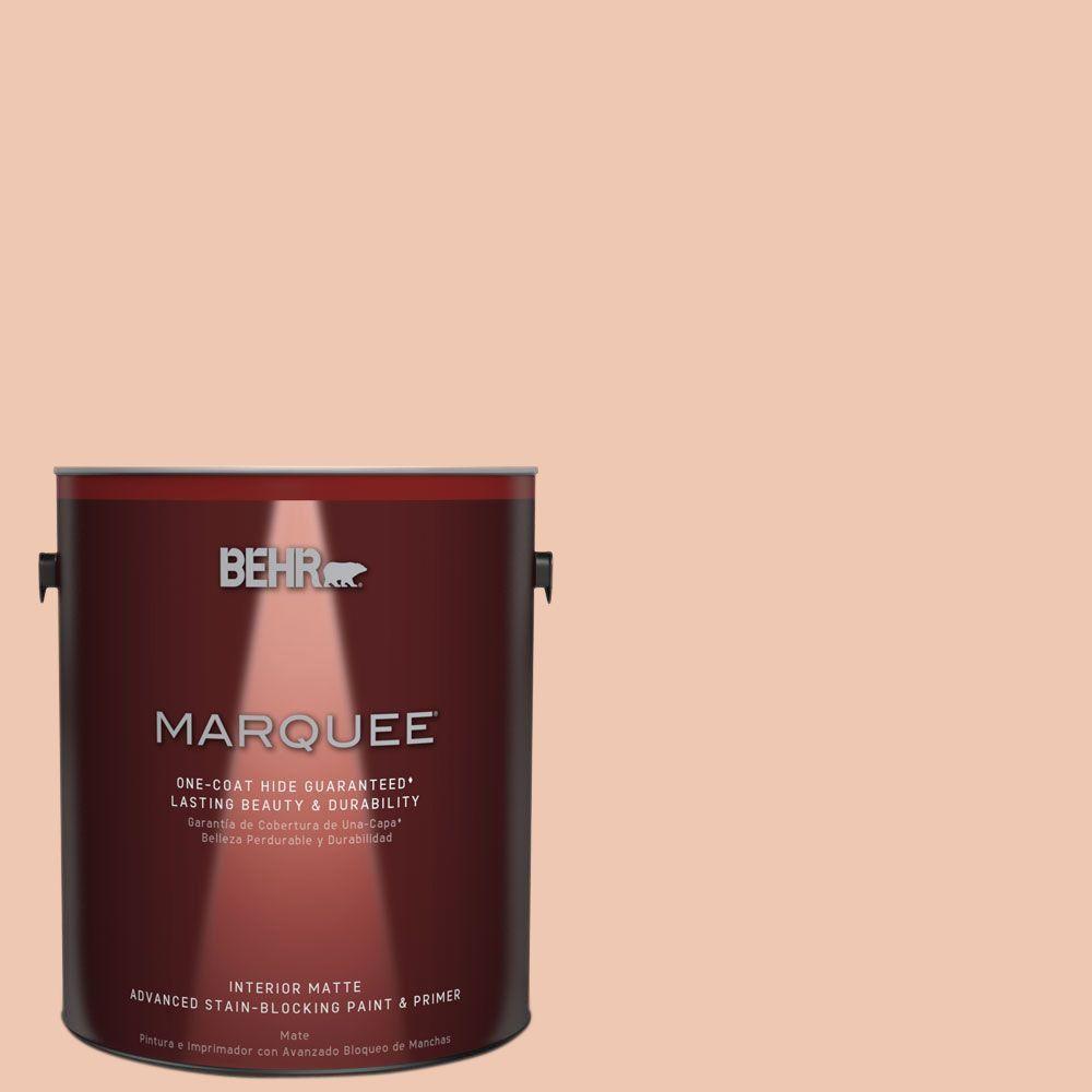 BEHR MARQUEE 1 gal. #MQ3-39 Sweet Pastel One-Coat Hide Matte Interior Paint