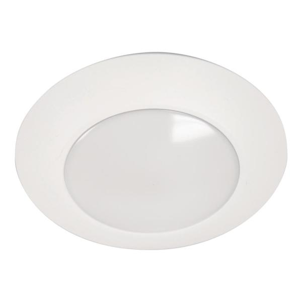 HLC 6 in. 3000K White Integrated LED Recessed Light Trim (12-Pack)