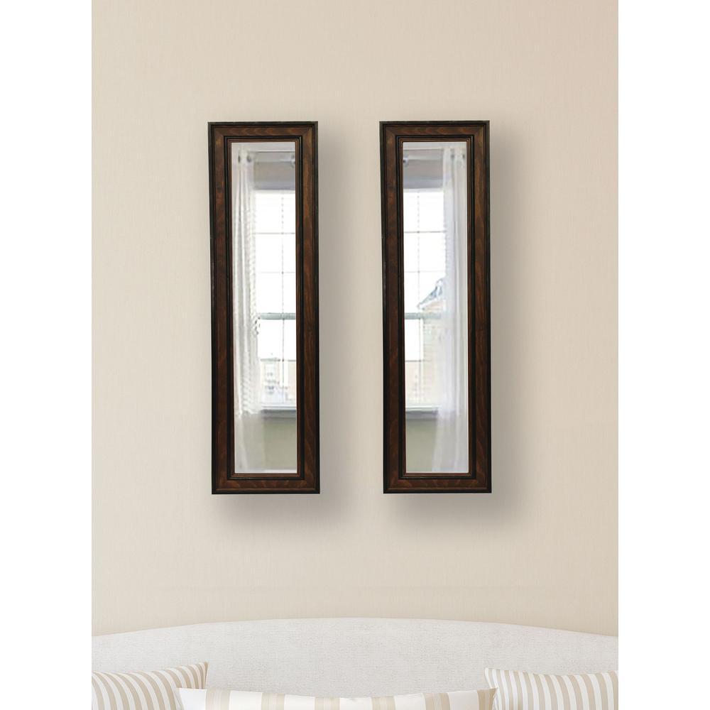 7.5 in. x 23.5 in. Country Pine Vanity Mirror (Set of 2-Panels)