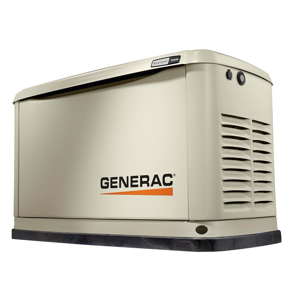 Generac 20,000-Watt (LP)/18,000-Watt (NG) Air Cooled Standby Generator with Whole House 200 Amp Automatic Transfer Switch