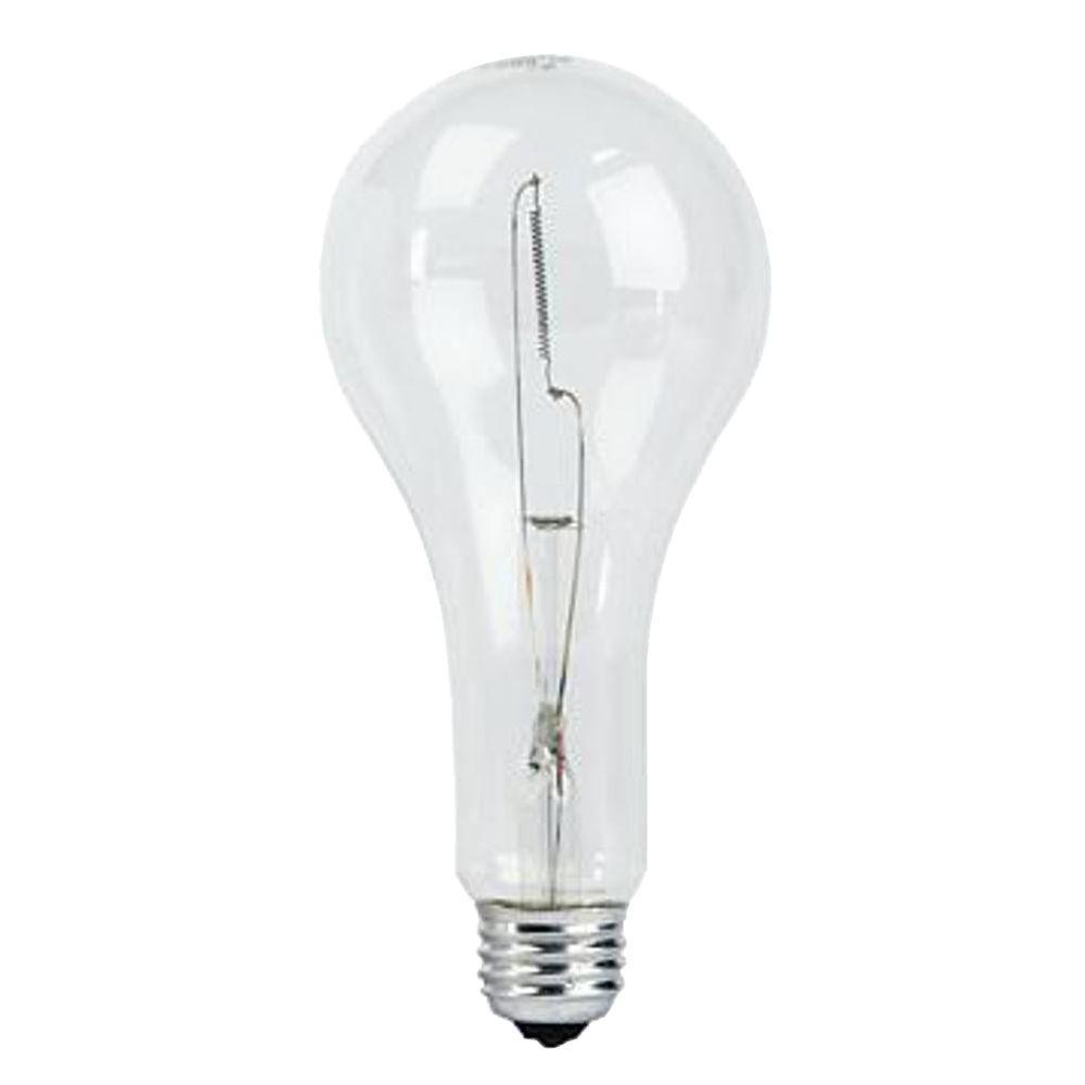 189-Watt Incandescent PS25 125-Volt Clear Street Light Bulb (60-Pack)