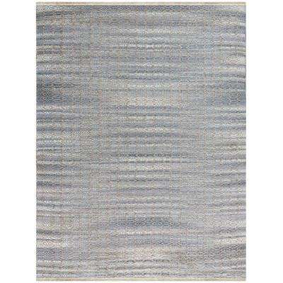 Zoelie Sky Blue 2 ft. x 3 ft. Rectangle Area Rug
