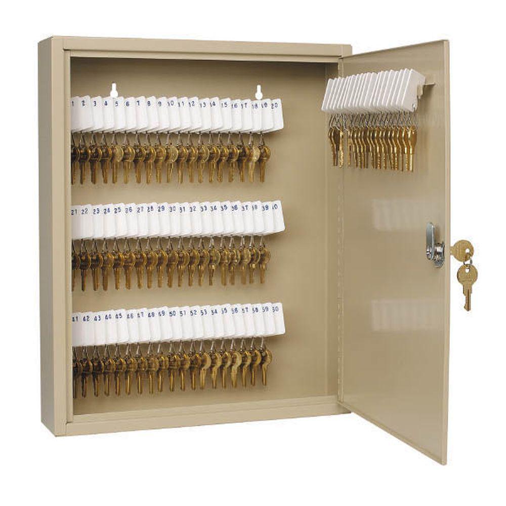 Uni-Tag 80-Key Cabinet Safe, Sand (Brown)
