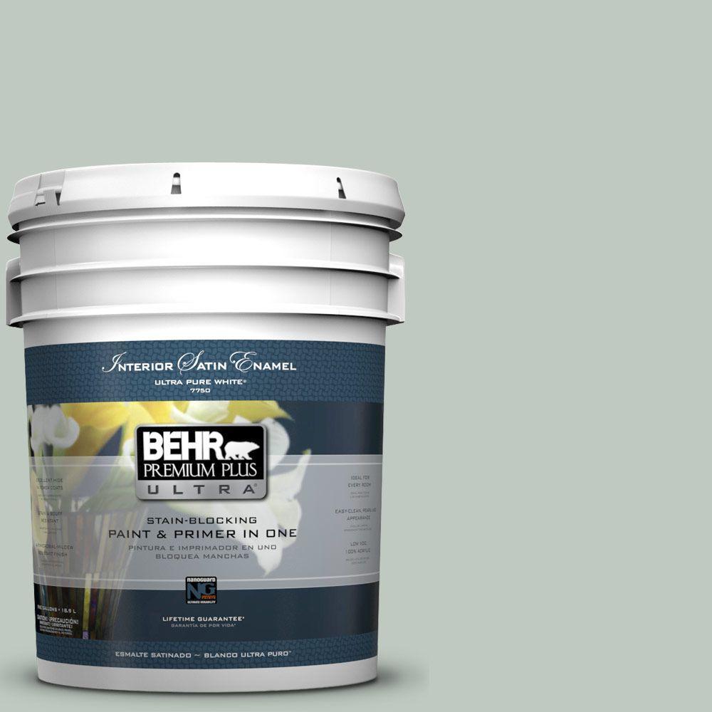 BEHR Premium Plus Ultra 5-gal. #N420-2 Mountain Falls Satin Enamel Interior Paint