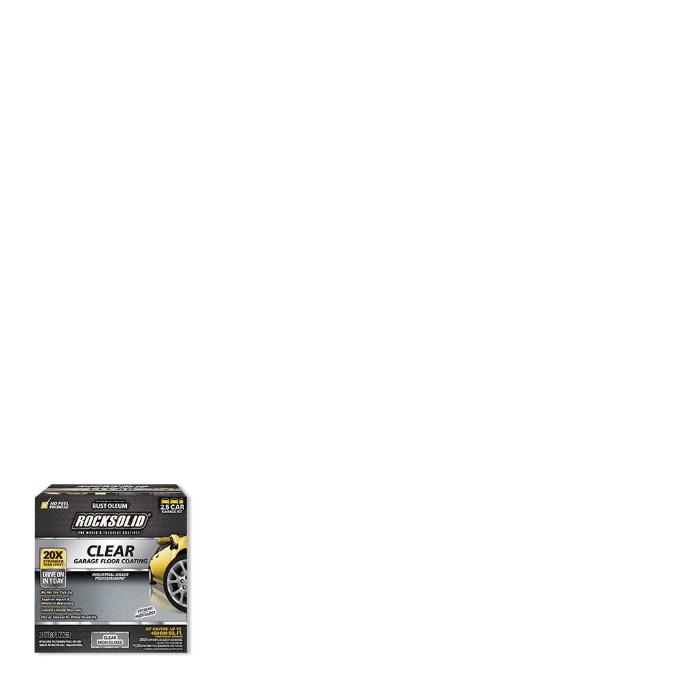 Rust-Oleum RockSolid 90 oz. Clear Polycuramine Top Coat Garage Floor Kit