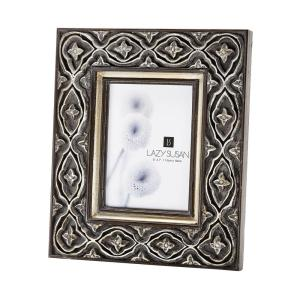 Ornate 1-Opening 5 inch x 7 inch Hand Carved Composite Picture Frame by