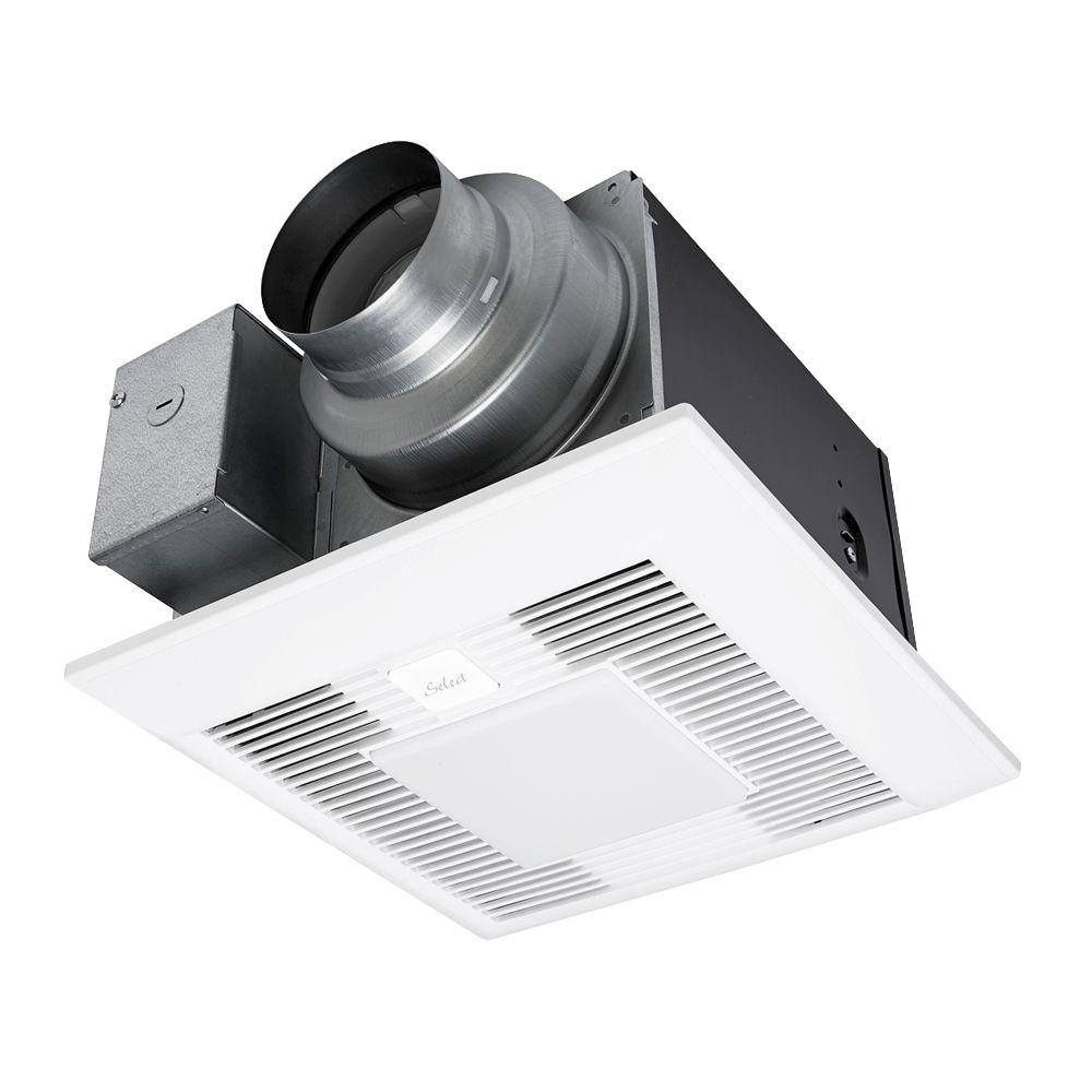 Timer for bathroom exhaust fan - Whispergreen Select 50 80 110 Cfm Customizable Ceiling Exhaust Bath Fan With Led Light