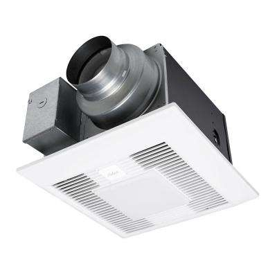 WhisperGreen Select 50/80/110 CFM Customizable Ceiling Exhaust Bath Fan with LED Light, ENERGY STAR