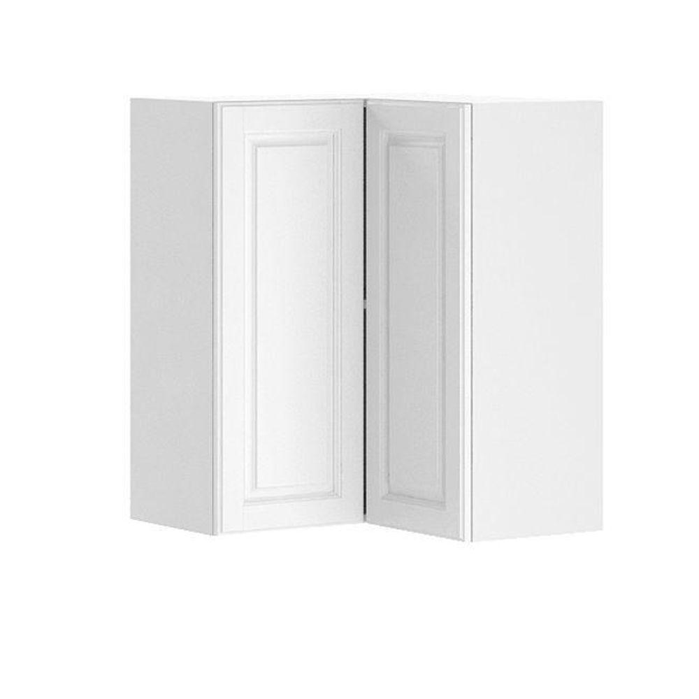 Fabritec Ready To Assemble 24x30x24 In Birmingham Corner Wall Cabinet In White Melamine And