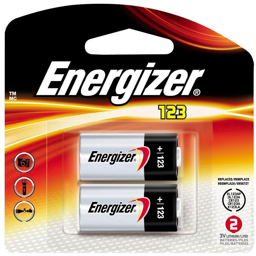 Energizer 123 2pk Lithium Battery EL123APB2 The Home Depot