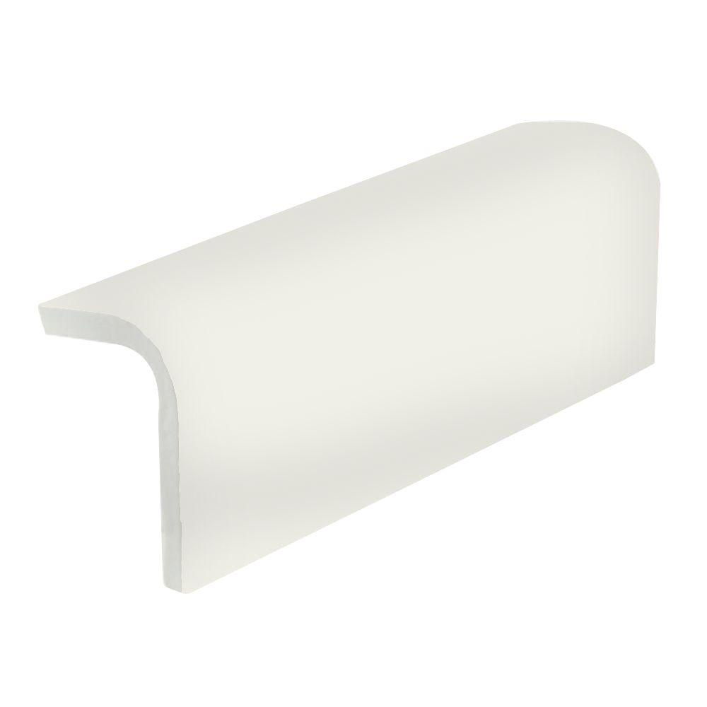 U.S. Ceramic Tile Color Collection Matte Bone 2 in. x 6 in. Ceramic Sink Rail Wall Tile-DISCONTINUED