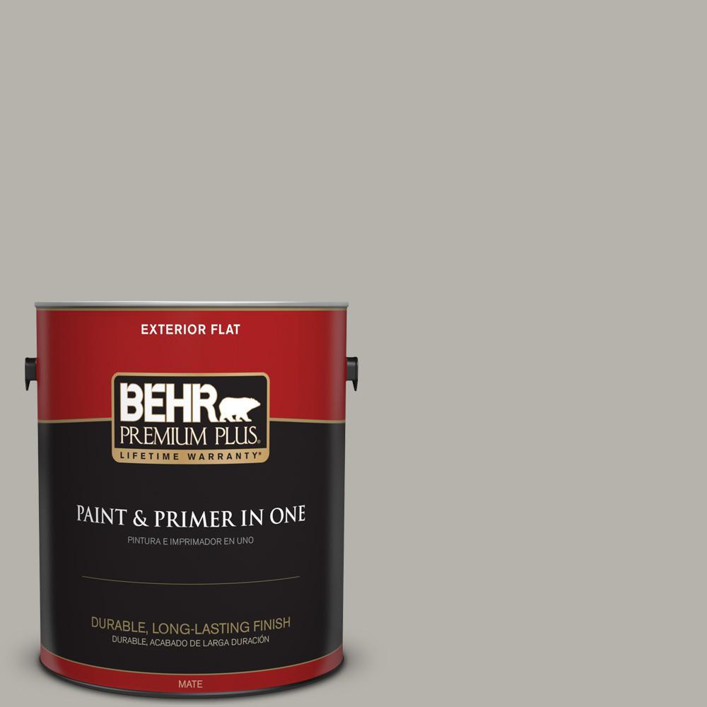 1 gal. #PPU24-11 Greige Flat Exterior Paint