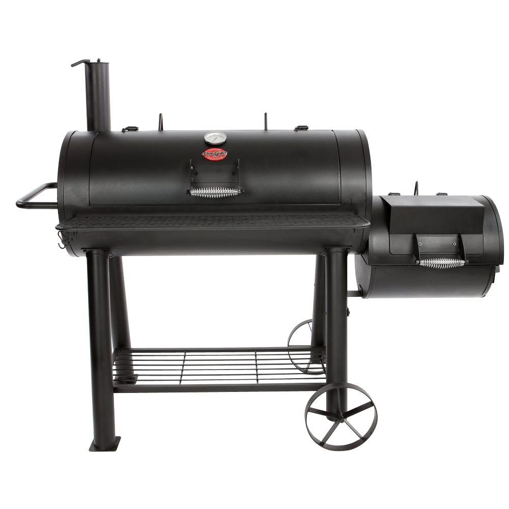 Char griller professional grill and smoker - Char Griller 1091 Sq In Competition Pro Offset Charcoal Or Wood Smoker In