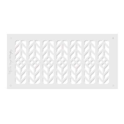 Frank Lloyd Wright Collection Floral Grille 6 in. x 14 in. Aluminum  White-Matte