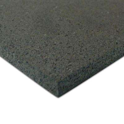 Elliptical Mat 3/16 in. x 48 in. x 84 in. Black Heavy-Duty Rubber Mat
