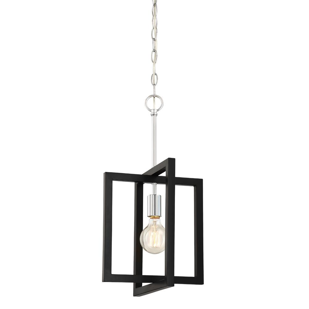 Designers fountain xander 1 light chrome mini pendant