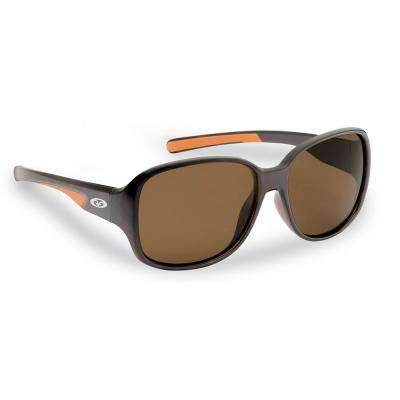 Pearl Polarized Sunglasses Tortoise Frames with Amber Lens