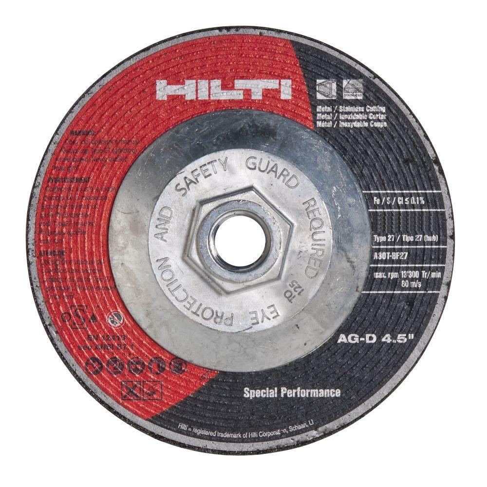 4-1/2 in. x 1/8 in. x 5/8 in.-11 Type 27 Cutting Wheel SP Pack (5-Piece)