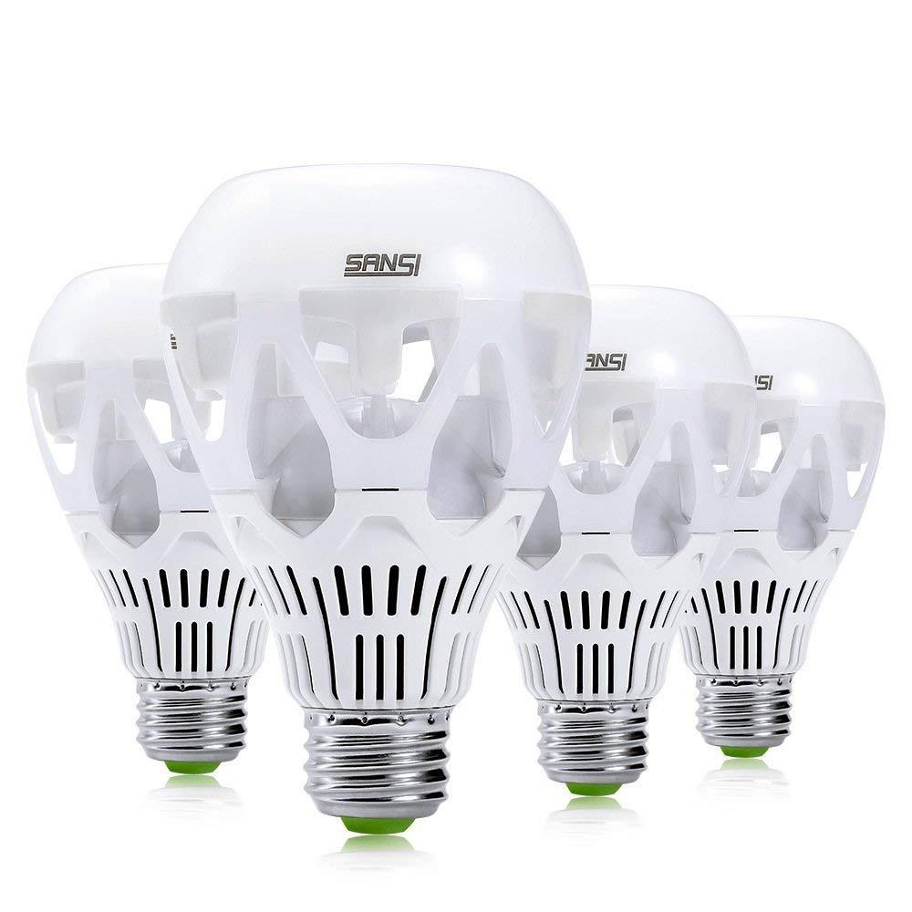 SANSI 150-Watt Equivalent A21 Non-Dimmable LED Light Bulb Daylight in 5000K (4-Pack)
