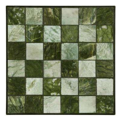 12 in. x 12 in. Jade Small Tile Decorative Garden Stone