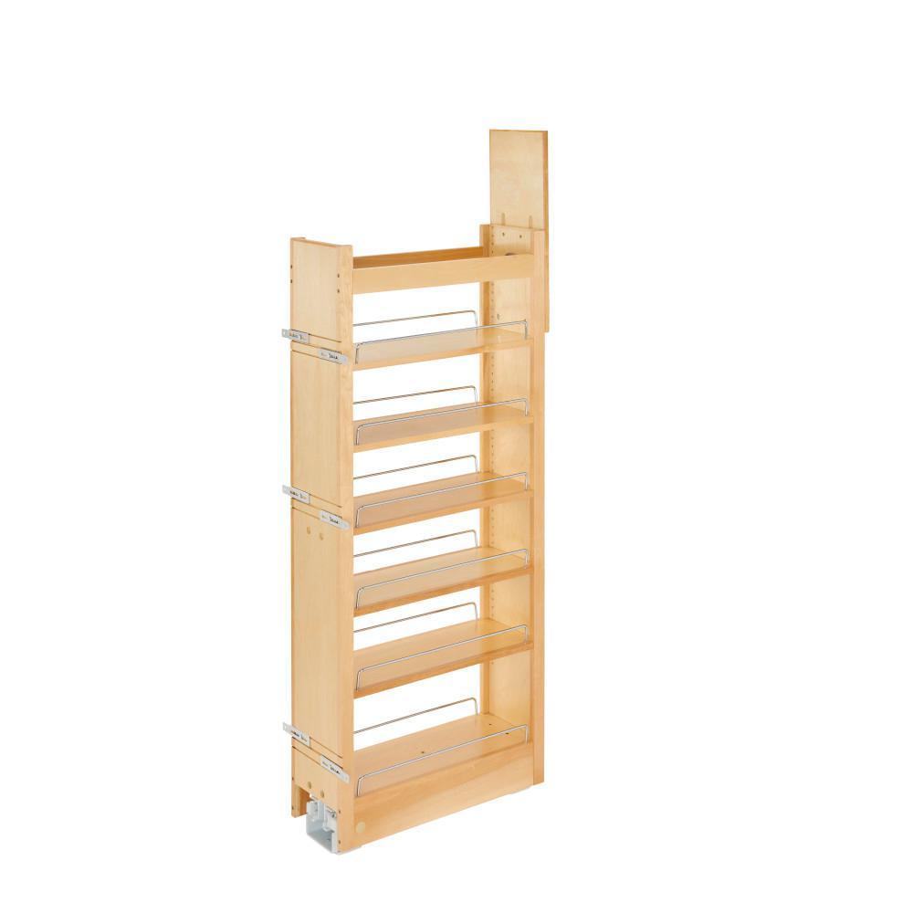 43.375 in. H x 5 in. W x 22 in. D Pull-Out Wood Tall Cabinet Pantry