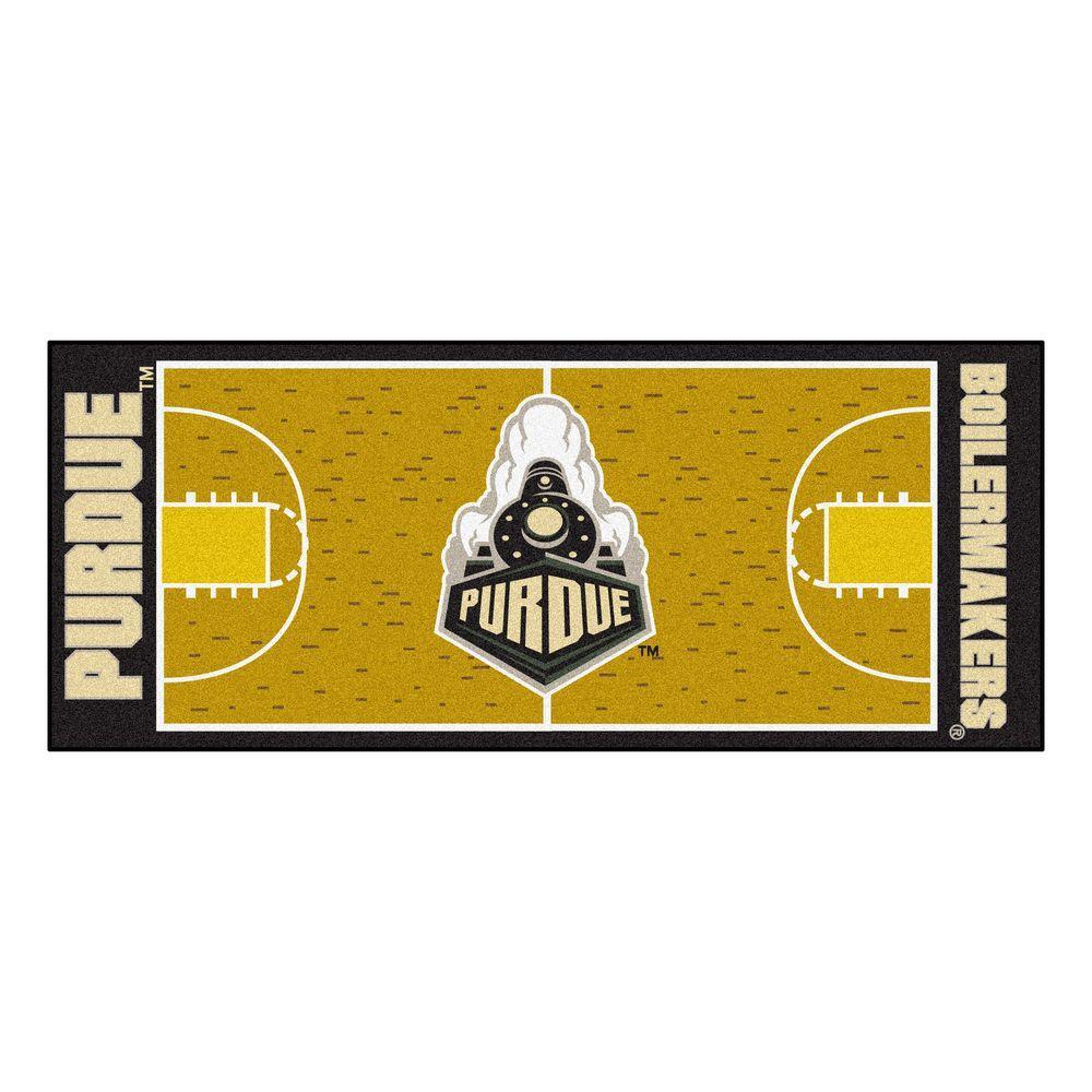 Purdue University 3 ft. x 6 ft. Basketball Court Runner Rug