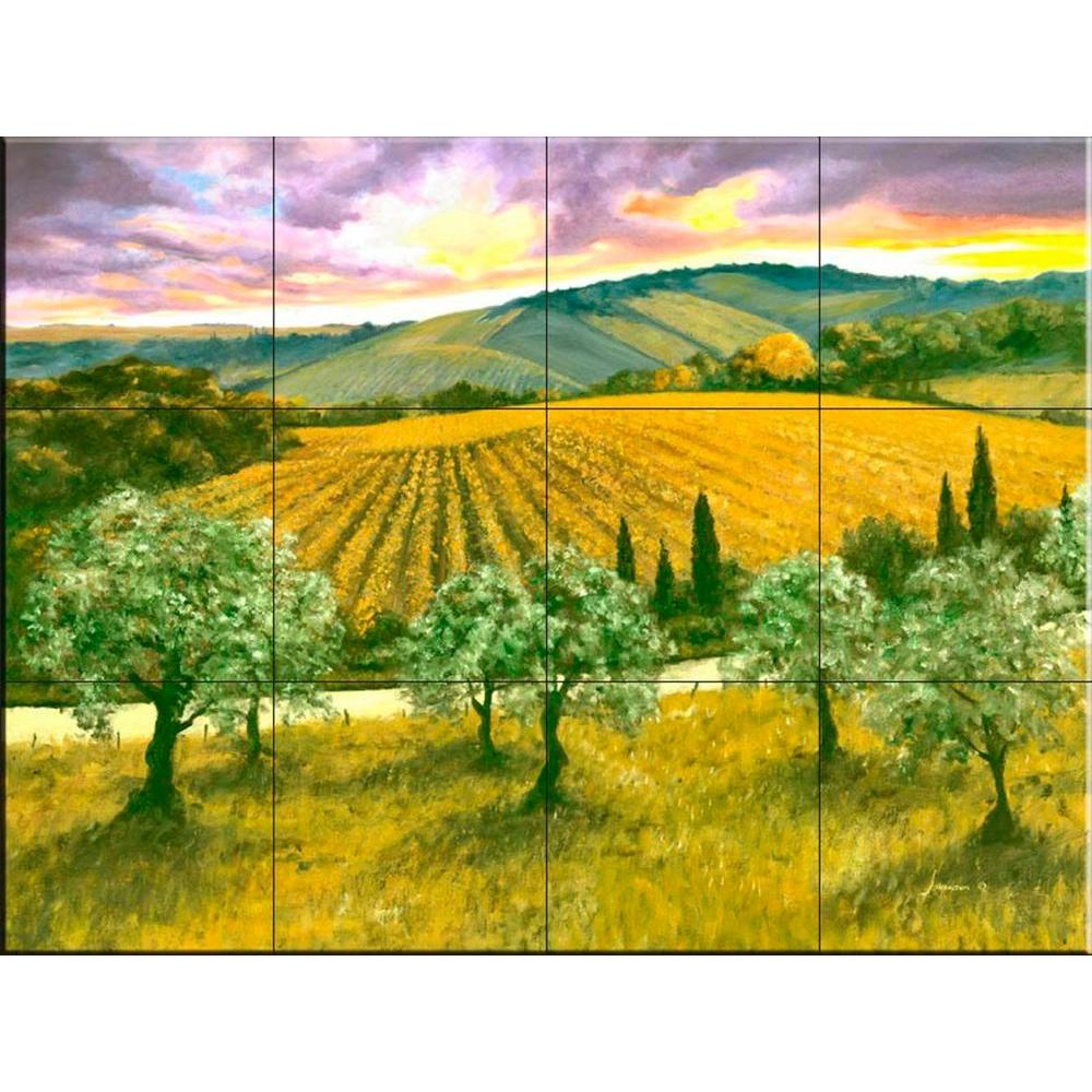 After the Storm 17 in. x 12-3/4 in. Ceramic Mural Wall