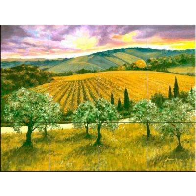 After the Storm 17 in. x 12-3/4 in. Ceramic Mural Wall Tile