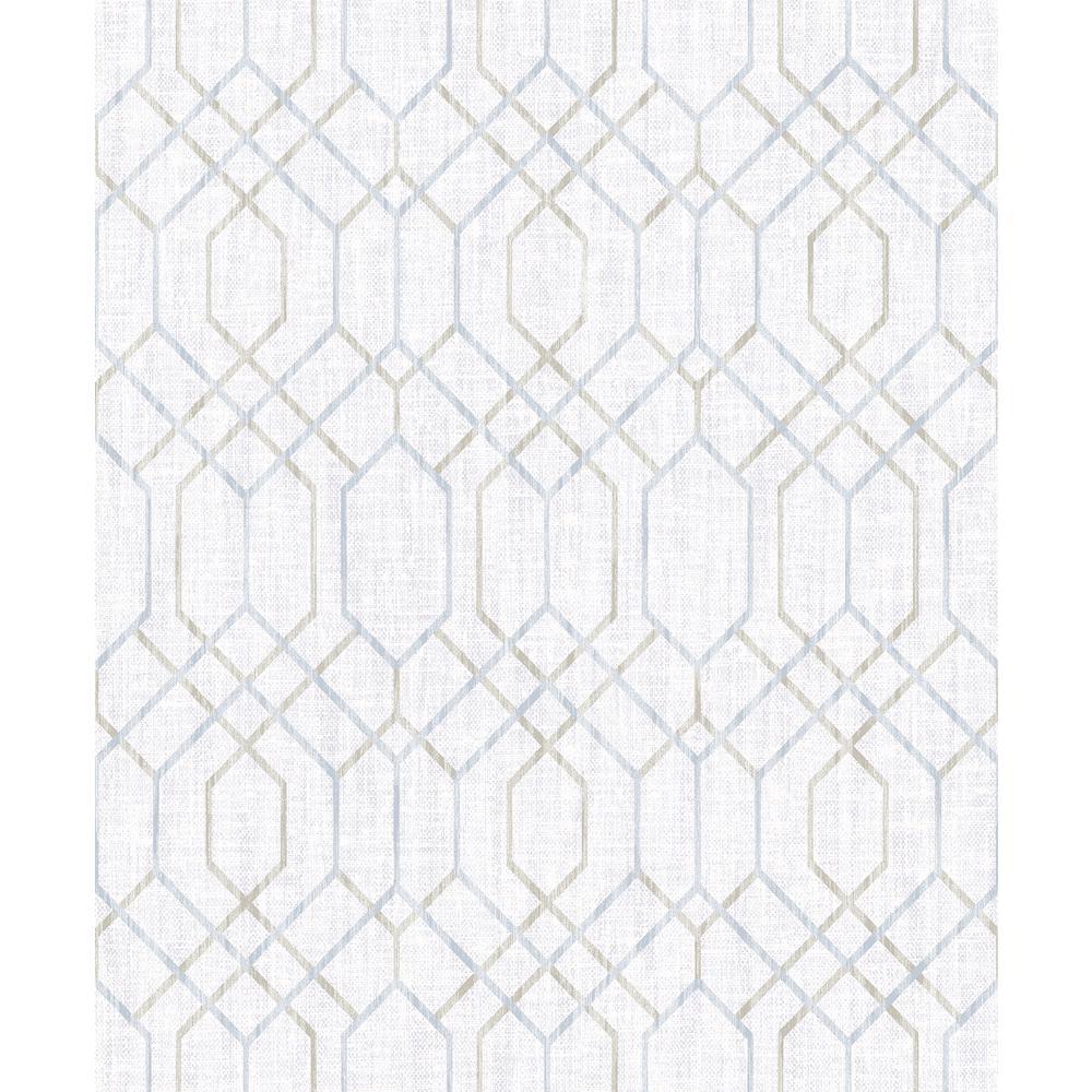 Lyla Grey Trellis Wallpaper Sample
