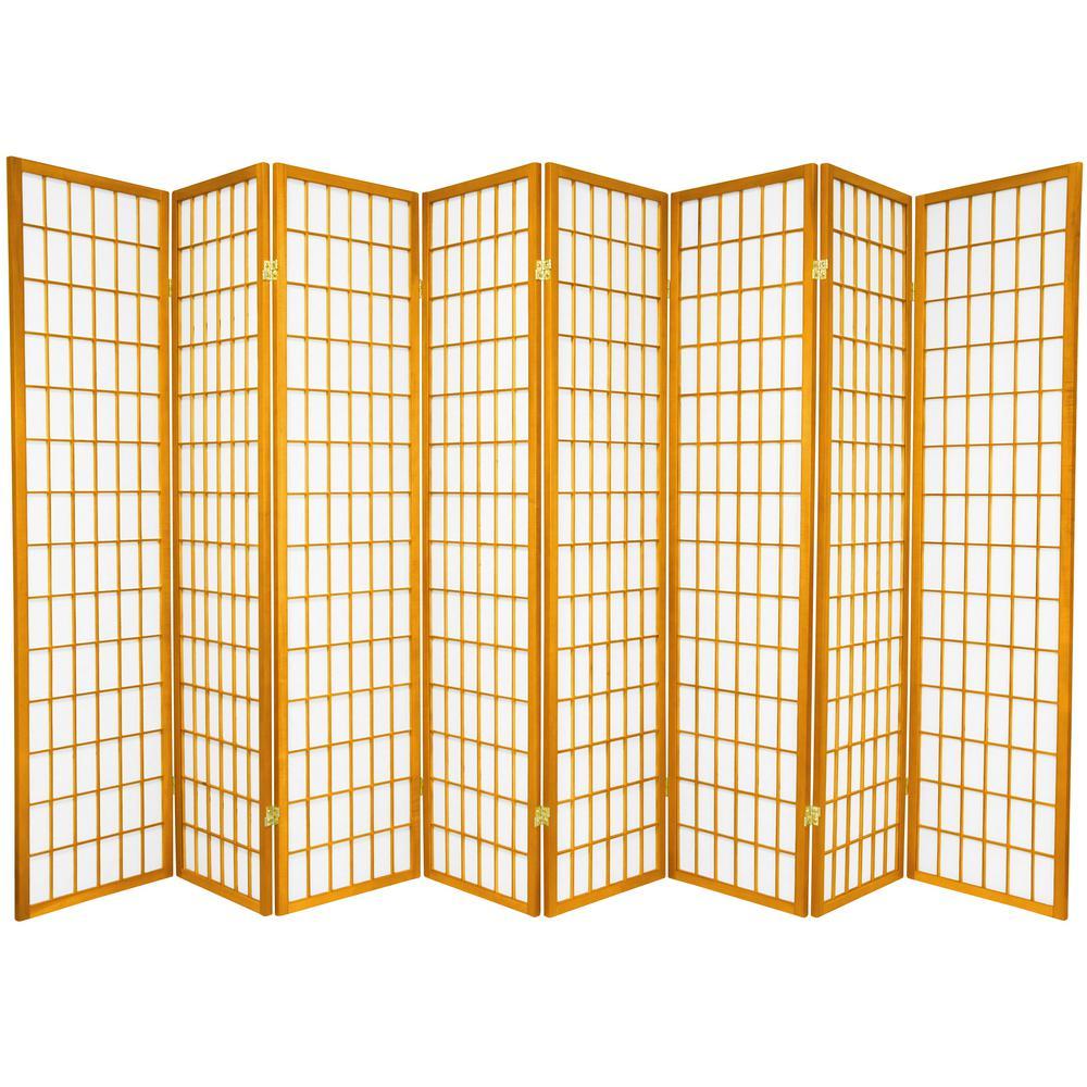 Oriental Furniture 6 ft. Honey 8-Panel Room Divider SSCWP-8P-HON