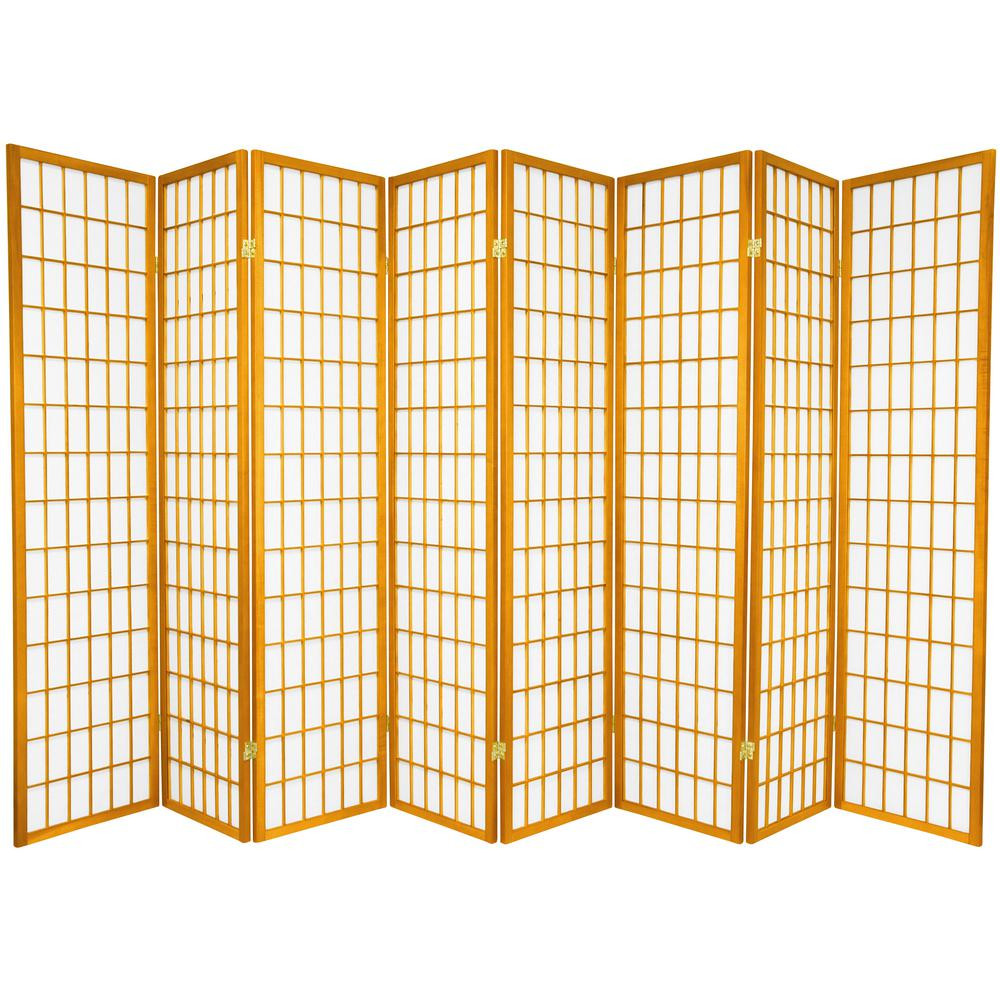6 ft Honey 8 Panel Room Divider SSCWP 8P HON The Home Depot