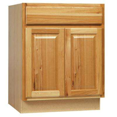 Hampton Assembled 24 x 34.5 x 21 in. Bathroom Vanity Base Cabinet in Natural Hickory