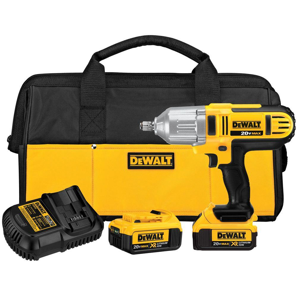 Dewalt 20 Volt Max Lithium Ion Cordless 1 2 In Impact Wrench