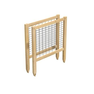 CritterGuard 2 ft. L, 23.5 in. Cedar Garden Fence (2-Pack)
