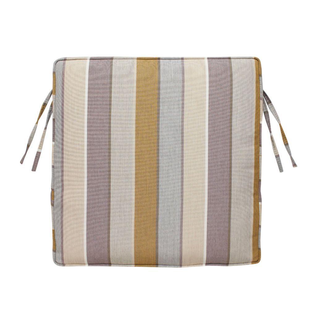 Home Decorators Collection Milano Dawn Sunbrella 20 in. Square Box-Edge Outdoor Chair Cushion