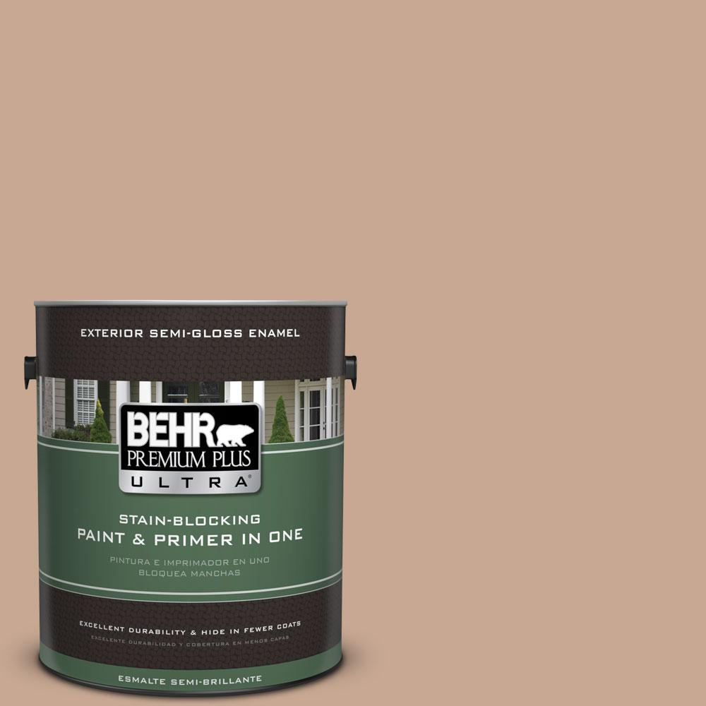 BEHR Premium Plus Ultra 1-gal. #ECC-42-1 Fox Hill Semi-Gloss Enamel Exterior Paint