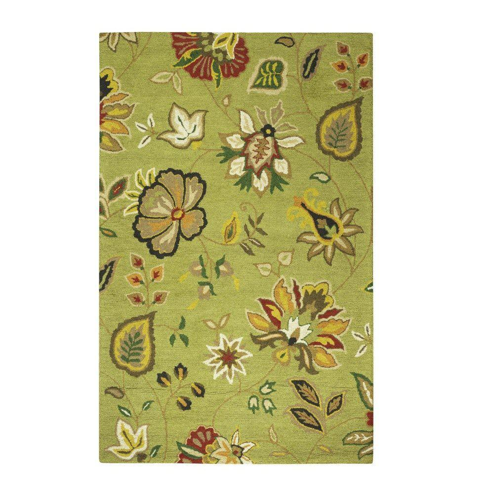 Home Decorators Collection Chintz Green 8 Ft X 10 Ft