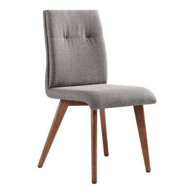 Noble Gray Fabric Dining Chair - Set of 2