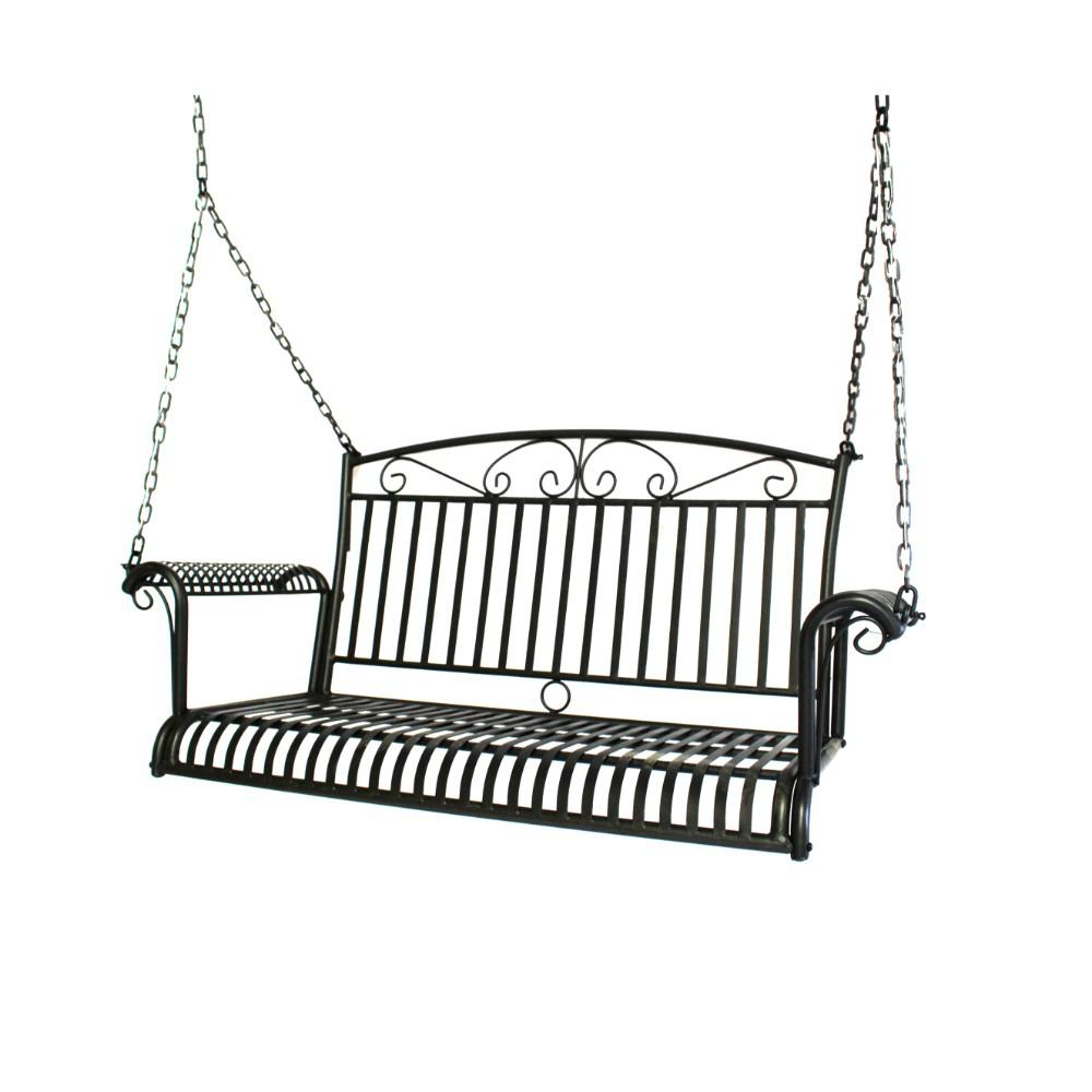 French Quarter Collection 3-Person Steel Porch Swing