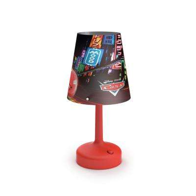 Disney Cars 10 in. Indoor Portable Table Lamp with Cars Shade