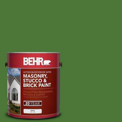 1 gal. #P380-7 Luck of the Irish Satin Interior/Exterior Masonry, Stucco and Brick Paint