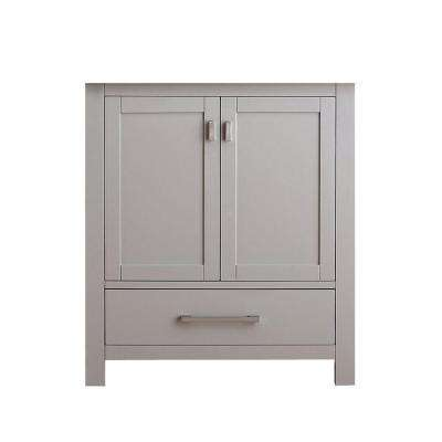 Modero 30 in. W x 21 in. D x 34 in. H Vanity Cabinet Only in Chilled Gray