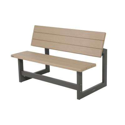 Heather Beige Convertible Patio Bench