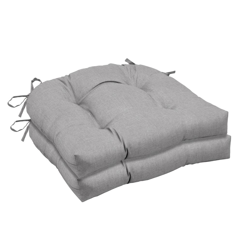 Paloma Woven Outdoor Tufted Seat Cushion (2-Pack)
