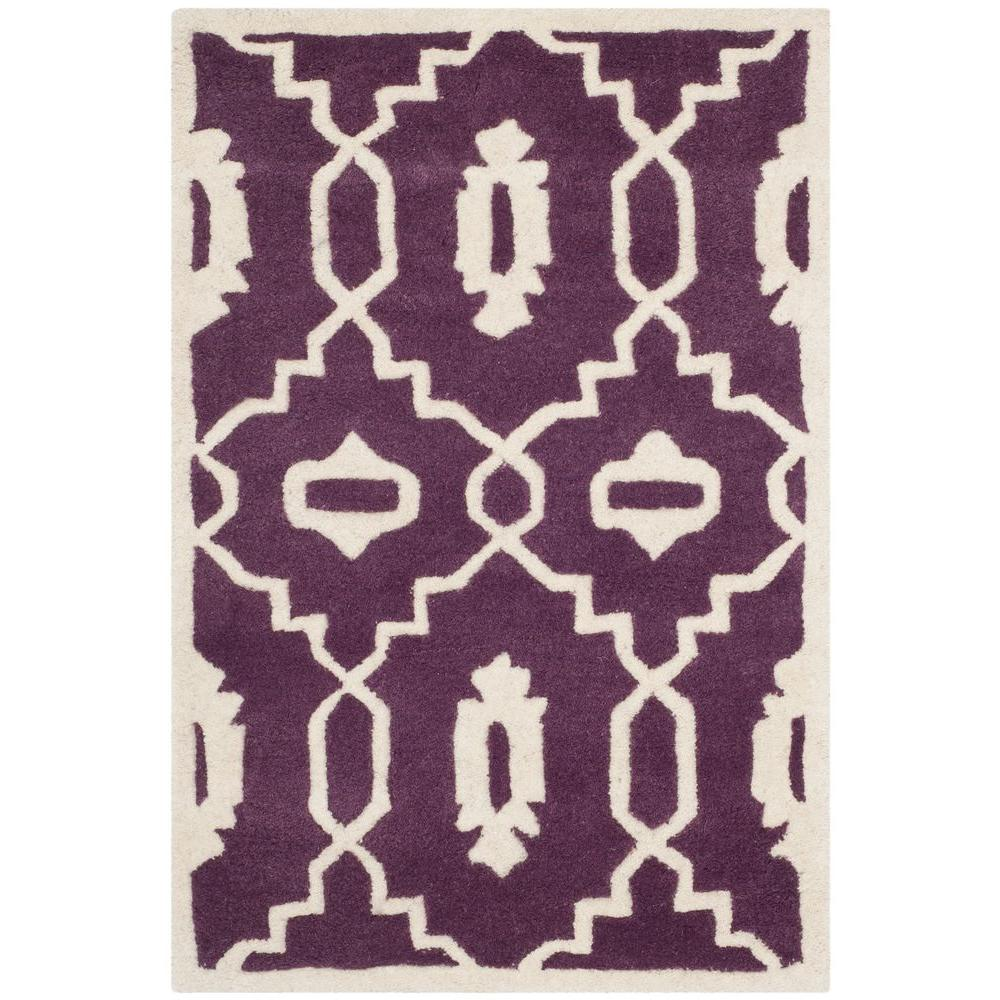 Chatham Purple/Ivory 2 ft. x 3 ft. Area Rug