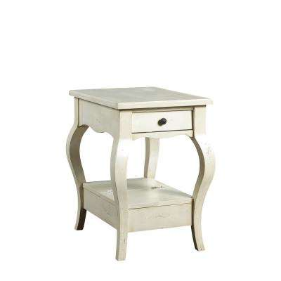 D'orsay Parisian White Chairside Table