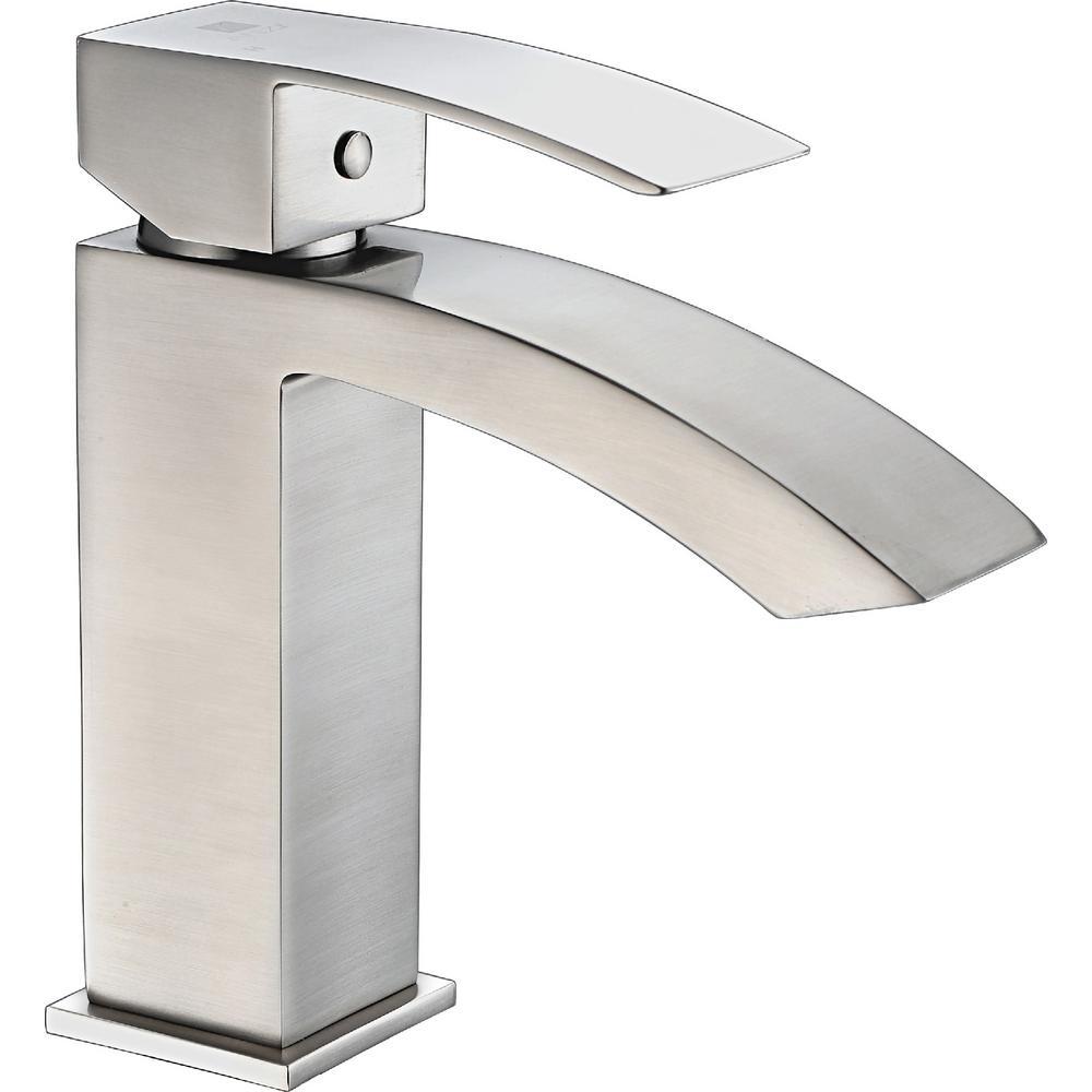 Revere Series Single Hole Single-Handle Low-Arc Bathroom Faucet in Brushed Nickel