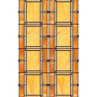 Arts and Crafts 17 in. x 78 in. Home Decor Self Adhesive Window Film (2-Pack)